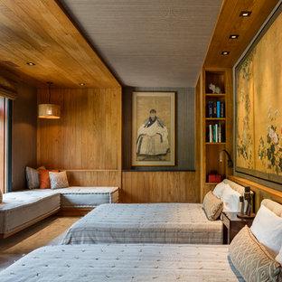 Asiatische Schlafzimmer mit grauer Wandfarbe Ideen, Design & Bilder ...