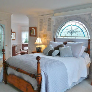 Inspiration for a victorian carpeted bedroom remodel in Vancouver