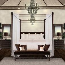 Contemporary Bedroom by Molto Bene Studios