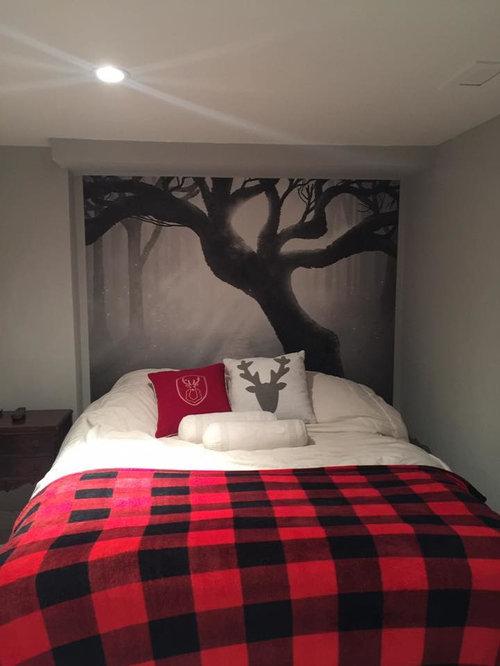 Scandinavian Red Bedroom Design Ideas, Remodels & Photos ...
