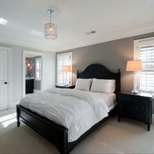 Gray room with shutters