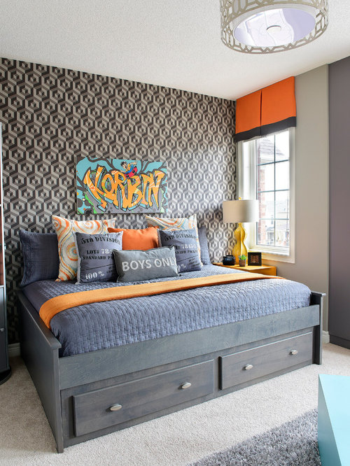 Funky And Bold Skateboard Themed Room Packed With Multipurpose