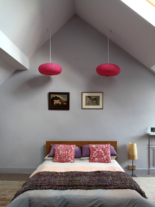 Pink Grey Teen Bedroom | Houzz