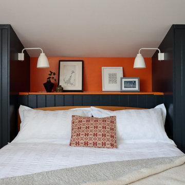 Funky mid-century bedroom