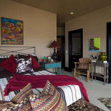 contemporary bedroom by Rick Hoge