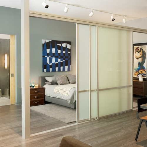 sliding door room divider | houzz