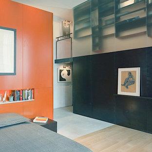 Cette image montre une chambre minimaliste.