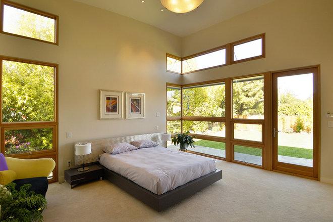Contemporary Bedroom by square three design studios