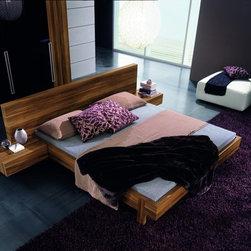 GAP Contemporary Italian Bed by Rossetto - Rich walnut finish