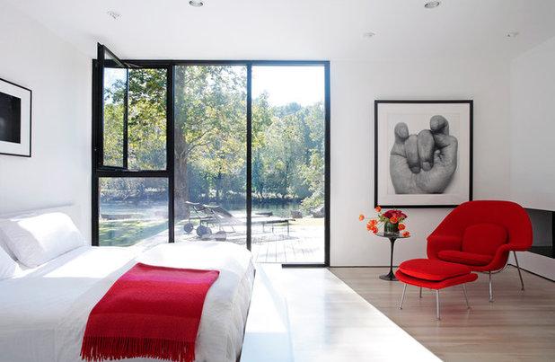 abbinamenti di colore: bianco lacca e rosso carminio insieme fanno wow - Colore Rosso Ambienti Classici Moderni