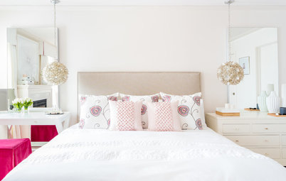 Soft and Pretty Master Suite With an Architectural Sensibility