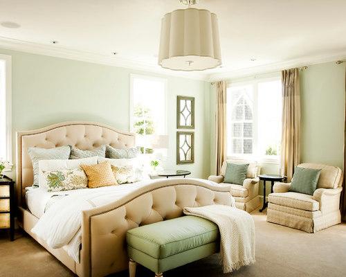 Sea foam green bedding houzz for Sea green bedroom designs