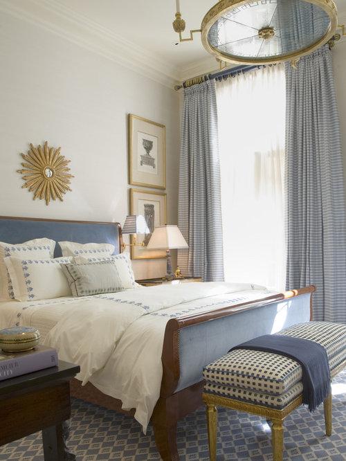 blue gold bedroom houzz