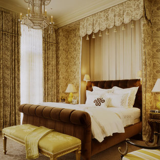 Bedroom - traditional carpeted bedroom idea in San Francisco with no fireplace