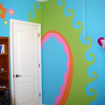 Girl's Bedroom Murals