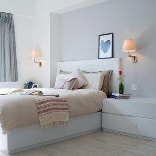 Minimalist bedroom photo in Hong Kong