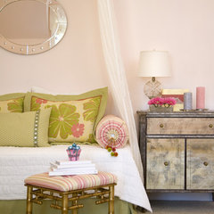eclectic bedroom by Rachel Oliver Decorative Design