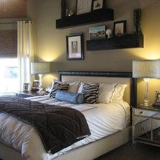 Contemporary Bedroom by PaintColorHelp.com Dallas