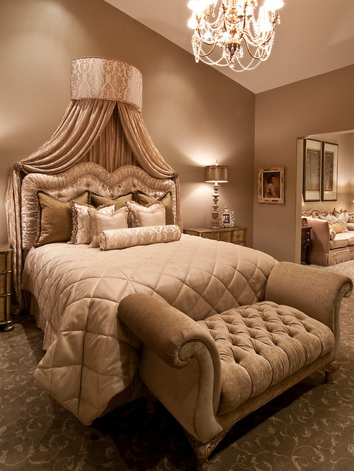 Fancy bedroom houzz for Bed decoration design