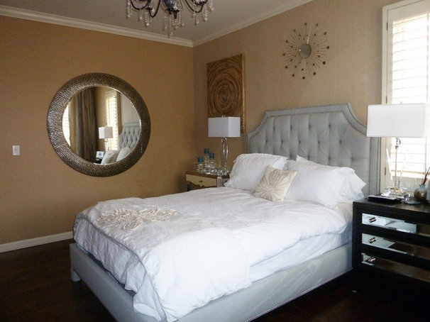 Contemporary Bedroom Glitz, bling and glamour for this feminine guest bedroom
