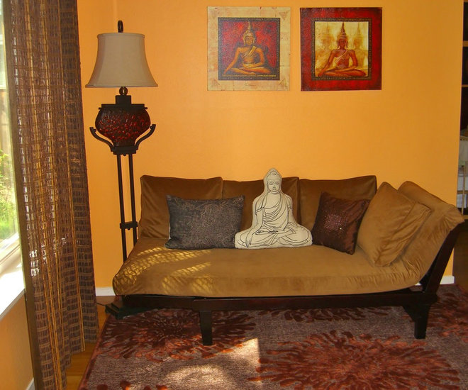Asian Bedroom by Decorating Den Interiors of Silicon Valley-Tam