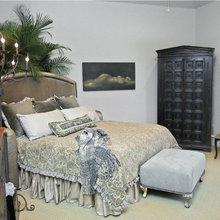 Diagonal Upholstered Bed