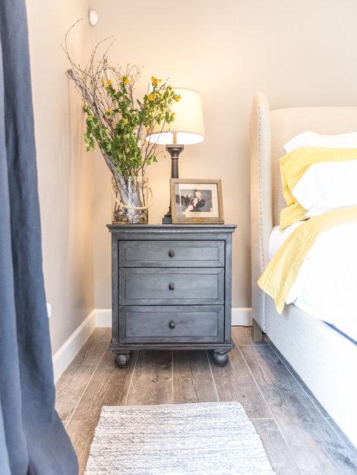 chambre montagne avec un sol en carrelage de porcelaine photos et id es d co de chambres. Black Bedroom Furniture Sets. Home Design Ideas