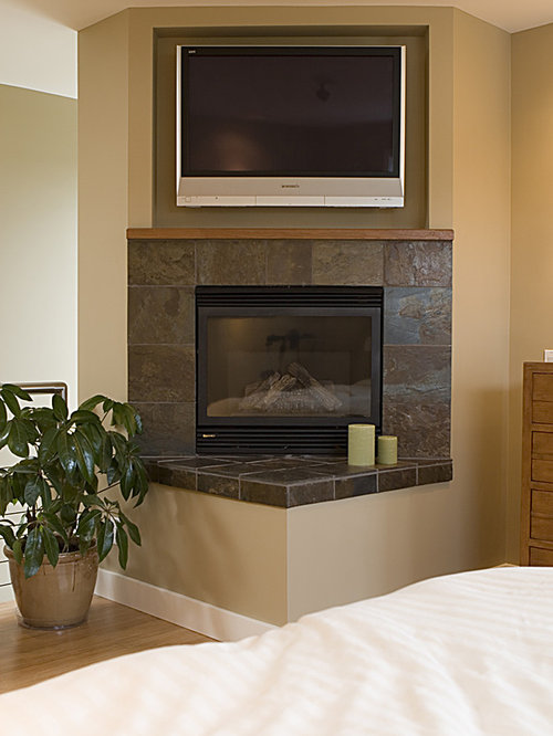 Corner Fireplace Home Design Ideas Renovations amp Photos