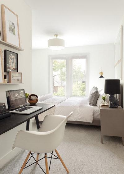 コンテンポラリー 寝室 by Kelly Deck Design