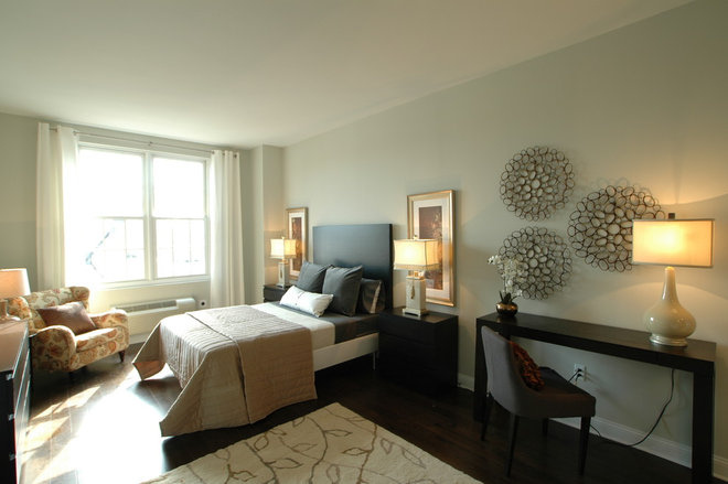 Contemporary Bedroom by Design Shop - Interiors & Staging