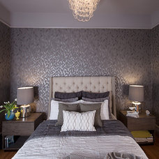 Transitional Bedroom by Faiella Design