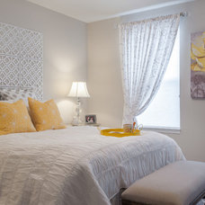 Contemporary Bedroom by SWAT Design Team for Decorating Den
