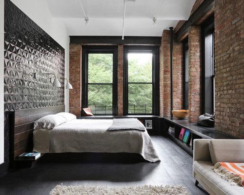 Industrial bedroom design ideas remodels photos houzz for Industrial bedroom ideas