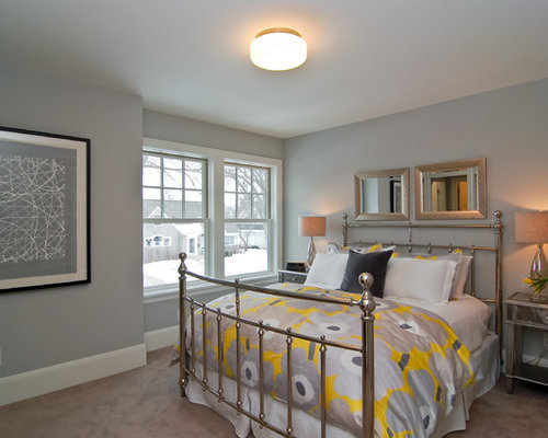 Yellow And Gray Bedroom Home Design Ideas Pictures Remodel And Decor