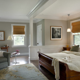 Green Gambrel Master Bedroom