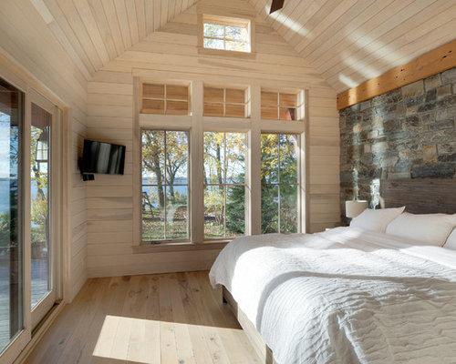 inspiration for a rustic master light wood floor bedroom remodel in minneapolis - Bedroom Decorating Ideas Rustic