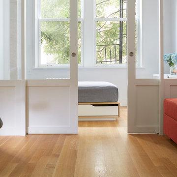 Greenwich Village Apartment Rift and Quartersawn White Oak Floors
