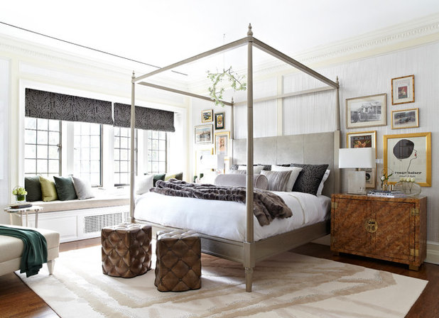 Transitional Bedroom by Kelly Sutton Design