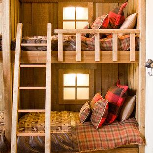 Foto på ett vintage sovrum