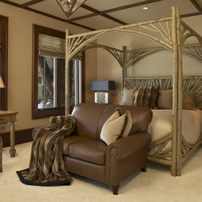 rustic bedroom by Billy Beson Company
