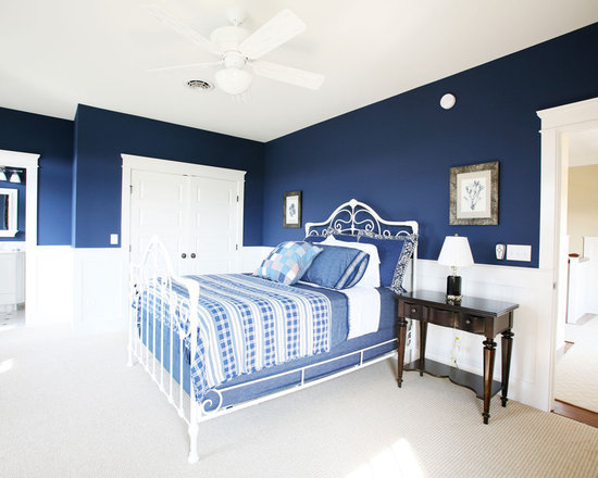 Dark Blue And White Bedroom navy blue and white | houzz