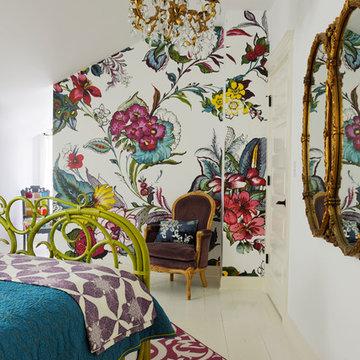 Guest Bedroom Floral Mural