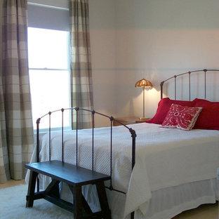 Bedroom - eclectic guest bamboo floor bedroom idea in New York