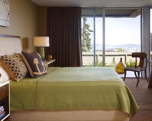 Brown And Green Bedroom Home Design Ideas, Pictures