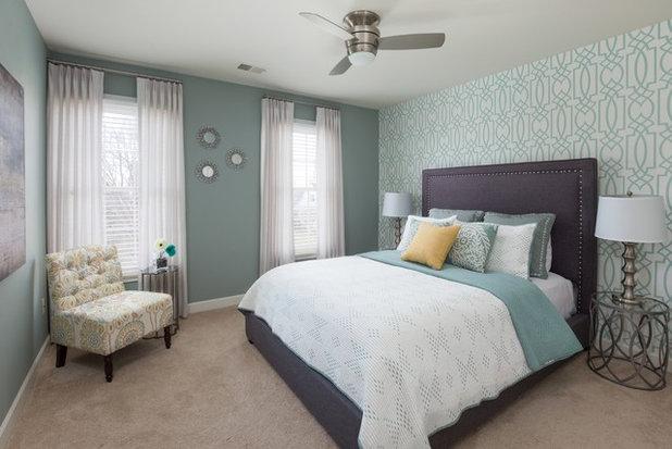 Transitional Bedroom by Nalini Tandon - Decorating Den