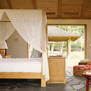 Tropical guest bedroom in San Francisco.