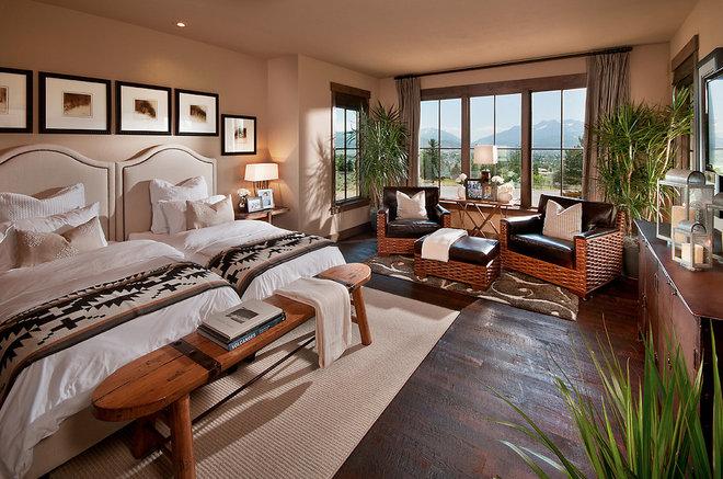 Rustic Bedroom by CSE & Associates, INC.
