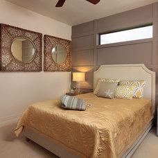 Tropical Bedroom by A Coastal Home LLC