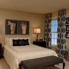 contemporary bedroom by Paula Grace Designs, Inc.