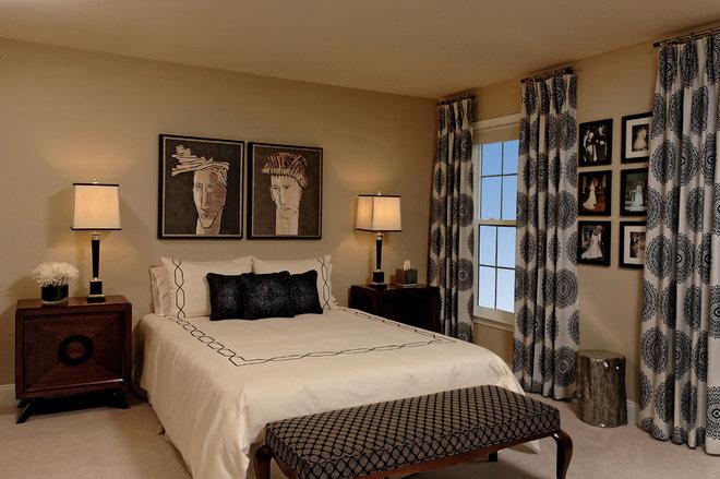 Contemporary Bedroom by Paula Grace Designs, Inc.